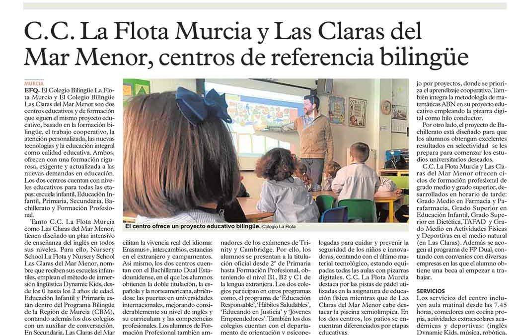 Las Claras, colegio de referencia bilingüe