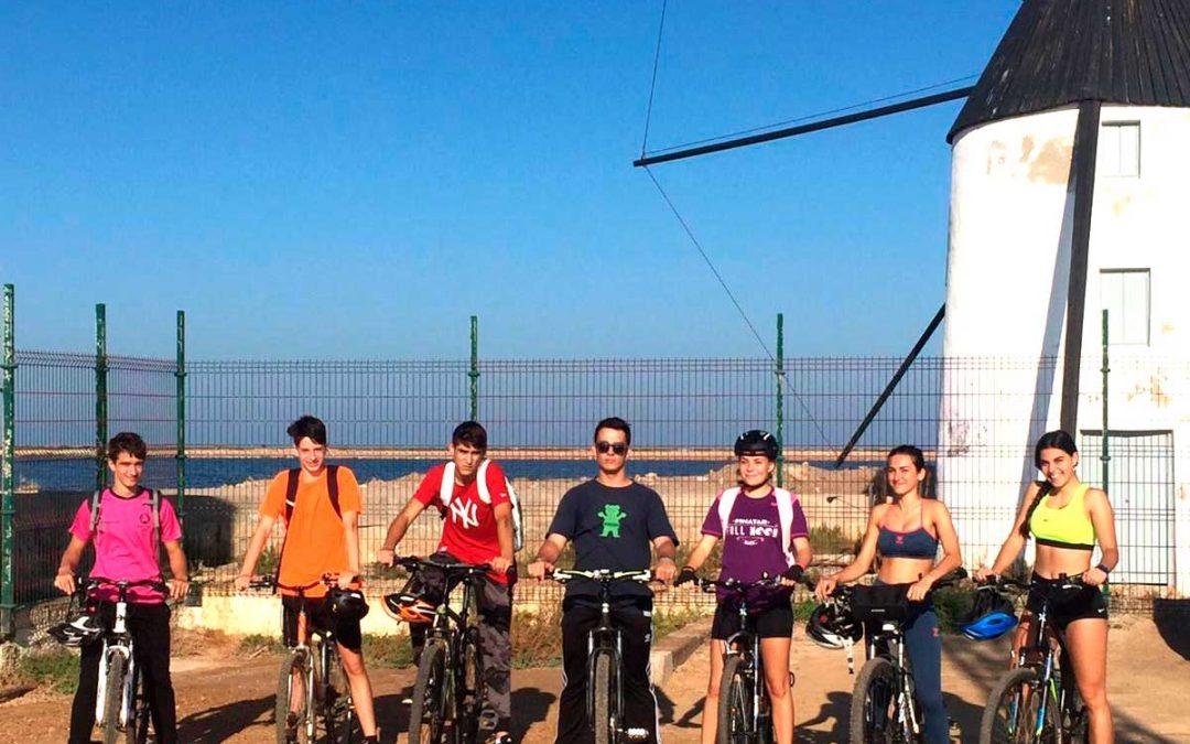 Ruta en bicicleta al Mar Menor con los alumnos de FP