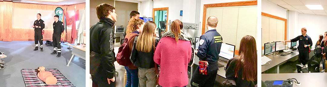 Alumnos de 2º de FP de Farmacia y Parafarmacia vistan el 112