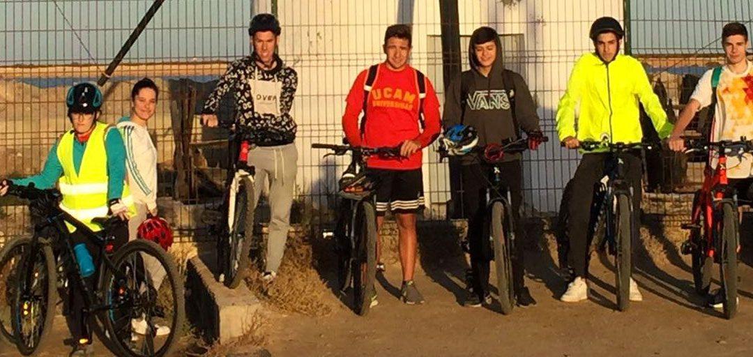 Ruta por el Mar Menor con los alumnos del Grado Medio en Deporte
